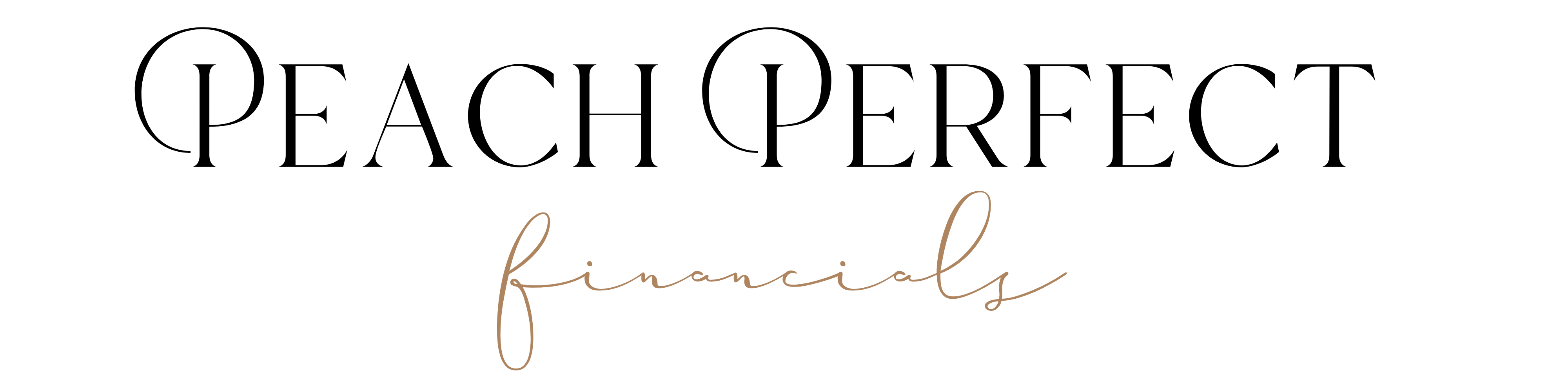 Scripted black and gold logo